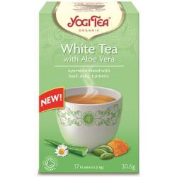 HERBATA BIAŁA Z ALOESEM (WHITE TEA WITH ALOE VERA) BIO (17 x 1,8 g) 30,6 g - YOGI TEA