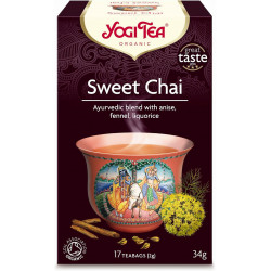 HERBATKA SŁODKI CHAI (SWEET CHAI) BIO (17 x 2 g) 34 g - YOGI TEA