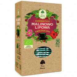 HERBATKA LIPOWO - MALINOWA BIO (25 x 2,5 g) 62,5 g - DARY NATURY
