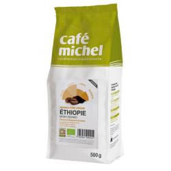 KAWA ZIARNISTA ARABICA 100 % SIDAMO ETIOPIA FAIR TRADE BIO 500 g - CAFE MICHEL