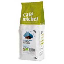 KAWA ZIARNISTA BEZKOFEINOWA ARABICA 100 % ETIOPIA FAIR TRADE BIO 500 g - CAFE MICHEL