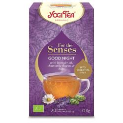 HERBATKA DLA ZMYSŁÓW NA DOBRANOC Z OLEJKIEM LAWENDOWYM (FOR THE SENSES GOOD NIGHT) BIO (20 x 2,1 g) 42 g - YOGI TEA