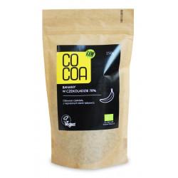 BANANY W CZEKOLADZIE 70 % BIO 250 g - COCOA