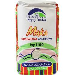 MĄKA ORKISZOWA CHLEBOWA NADBUŻAŃSKA TYP 1100 BIO 1 kg - MŁYNY WODNE (EKO OAZA)