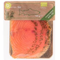 ŁOSOŚ ATLANTYCKI PLASTRY MARYNOWANE Z KOPREM BIO 100 g - BETTER FISH (B SALMON)
