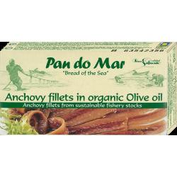 ANCHOIS (SARDELE) W BIO OLIWIE Z OLIWEK 50 g - PAN DO MAR