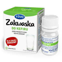 ŻYWE KULTURY BAKTERII DO KEFIRU 1 g (2 FIOLKI) - VIVO