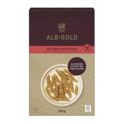MAKARON (RYŻOWY RAZOWY) PENNE BEZGLUTENOWY BIO 250 g - ALB GOLD