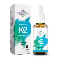 WITAMINA K2 W KROPLACH (100 mcg) 30 ml - SOUL FARM