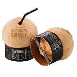 KOKOS BIO Z ZAWLECZKĄ I SŁOMKĄ (około 0,45 kg) - GENUINE COCONUT