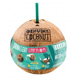 KOKOS BIO ZE SŁOMKĄ (około 0,75 kg) - GENUINE COCONUT