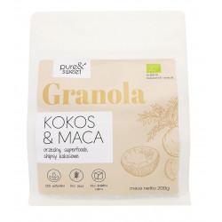 GRANOLA KOKOS - MACA BEZGLUTENOWA BIO 200 g - PURE & SWEET