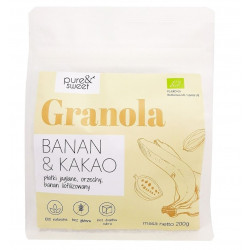 GRANOLA BANAN - KAKAO BEZGLUTENOWA BIO 200 g - PURE & SWEET