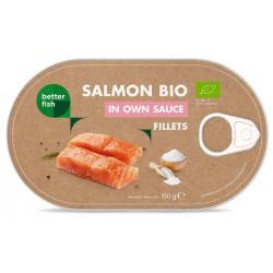 ŁOSOŚ FILET W SOSIE WŁASNYM (PUSZKA) BIO 150 g (90 g) - BETTER FISH
