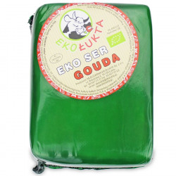 SER ŻÓŁTY PODPUSZCZKOWY GOUDA BLOK BIO (około 1,25 kg) - EKO ŁUKTA