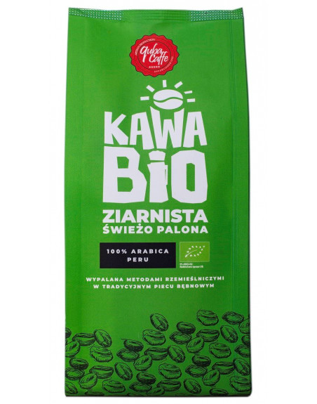 KAWA ZIARNISTA ARABICA 100 % PERU BIO 250 g - QUBA CAFFE