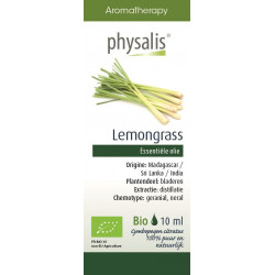 OLEJEK ETERYCZNY TRAWA CYTRYNOWA (LEMONGRASS) BIO 10 ml - PHYSALIS