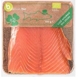 ŁOSOŚ IRLANDZKI PLASTRY WĘDZONE NA ZIMNO BIO 100 g - BETTER FISH ( B SALMON)